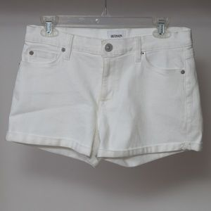 New Hudson Mid Rise Asha Cuffed Shorts 27